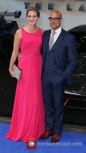 Stanley Tucci and Felicity Blunt at the Transformers: The Last Knight world premiere - London, United Kingdom - Sunday 18th...