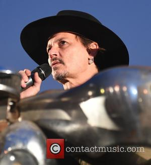 Johnny Depp makes a surprise visit to the 2017 Glastonbury Festival, the actor introduced a screening of his film 'The...