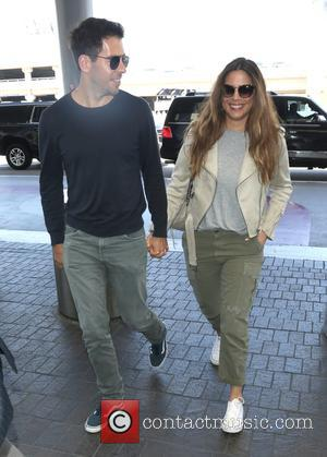 Eli Roth and his wife Lorenza Izzo arrive at LAX Airport - Los Angeles, California, United States - Wednesday 28th...