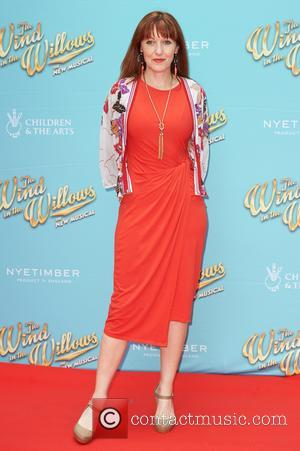 Kacey Ainsworth attends the red carpet for 'The Wind in the Willows' press night held at the London Palladium -...