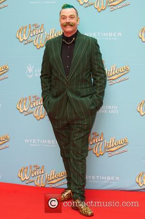 Rufus Hound attends the red carpet for 'The Wind in the Willows' press night held at the London Palladium -...