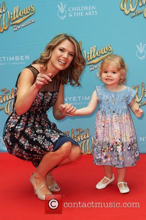 Charlotte Hawkins attends the red carpet for 'The Wind in the Willows' press night held at the London Palladium -...