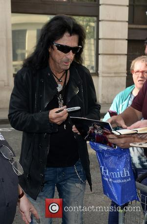 Alice Cooper arrives at BBC Radio 2 for the Chris Evans Breakfast Show - London, United Kingdom - Friday 30th...