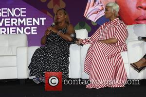 Queen Latifah and Monica seen on stage at the 2017 Essence Festival held in the convention center - New Orleans,...
