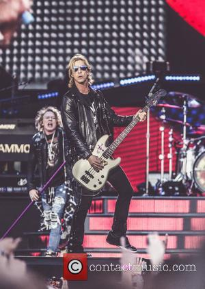 Guns N' Roses seen performing live in concert in front of 55,000 people - Hämeenlinna, Finland - Saturday 1st July...