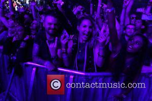 Crowd shots from Linkin Park's gig at The O2 Arena as part of their One More Light Tour - London,...