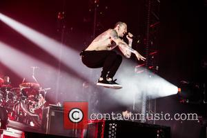 Linkin Park seen performing live onstage at The O2 Arena as part of their One More Light Tour - The...