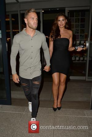 'Love Island' couple Jessica Shears and Dominic Lever spotted arriving at the Bird Cage Manchester where they are making an...