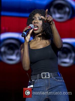 Heather Small performs on stage at the 2017 Rewind Scotland Festival in the grounds of Scone Palace - Perth and...