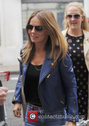 Spice Girl Geri Horner seen arriving at BBC Radio Wogan House where she is filling in for Zoe Ball -...