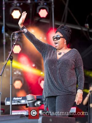 Jazzie B perform on stage at the 2017 Rewind Scotland Festival in the grounds of Scone Palace - Perth and...