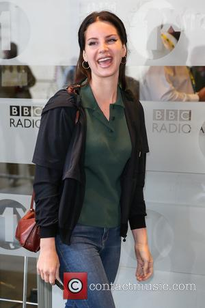 Singer Lana Del Rey arriving at BBC Radio One studios to pre record an interview - London, United Kingdom -...