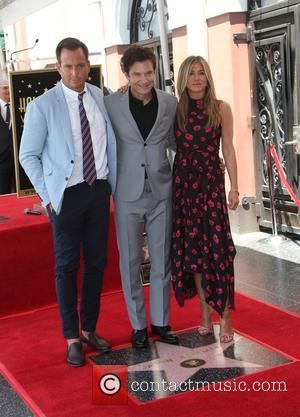 Will Arnett, Jason Bateman and Jennifer Aniston at On The Hollywood Walk Of Fame and Walk Of Fame