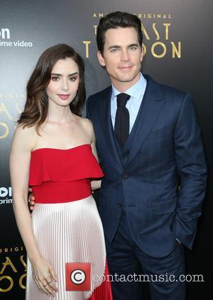 Lily Collins and Matt Bomer