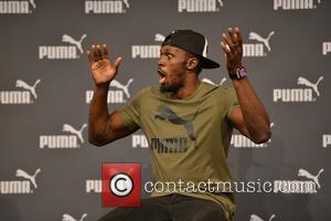 Usain Bolt holds a press conference at The Brewery ahead of his final race at the World Athletics championships -...