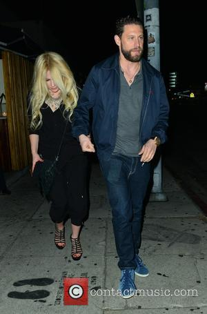 Avril Lavigne leaves The Nice Guy restaurant with a mystery man - West Hollywood, California, United States - Monday 7th...