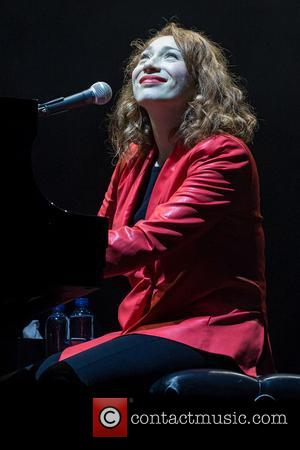 Regina Spektor performing on the third day at the 2017 Way Out West Festival - Slottsskogen, Gothenburg, Sweden - Saturday...