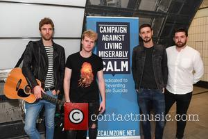 Irish rock band Kodaline busking at Tottenham Court Road Station and in Covent Garden in Central London to raise awareness...
