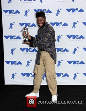 Khalid in the press room at the MTV Video Music Awards (VMA) 2017 held at the Forum in Inglewood -...