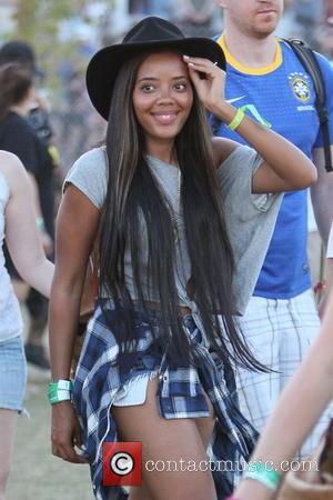Angela Simmons Celebrities at the 2012 Coachella Valley Music and Arts Festival - Week 2 Day 2 Indio, California -...
