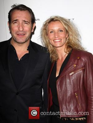Jean Dujardin and his wife Alexandra Lamy W Magazine's 69th Annual Golden Globe Awards Celebration - Arrivals Los Angeles, California...
