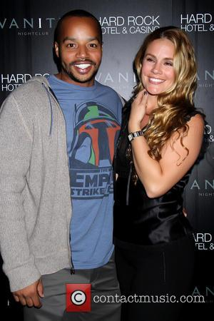 Donald Faison and CaCee Cobb Skyline movie cast party at Vanity Nightclub inside the Hard Rock Hotel and Casino Las...