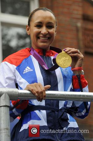 Jessica Ennis The 2012 London Olympic Parade with Team GB Athletes and Medal Winners London, England - 10.09.12  Featuring:...