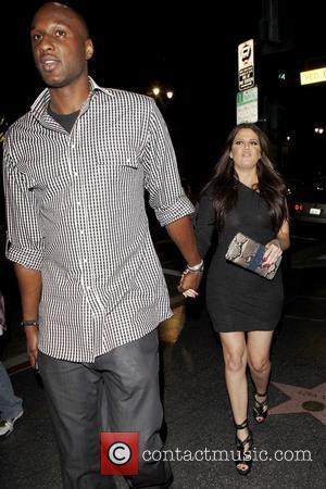 Lamar Odom and Khloe Kardashian leaving Katsuya restaurant in Hollywood Los Angeles,  Featuring: Khloe Kardashian, Lamar Odom Where: California,...