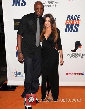 NBA player Lamar Odom and TV personality Khloe Kardashian 19th Annual Race to Erase MS held at the Hyatt Regency...