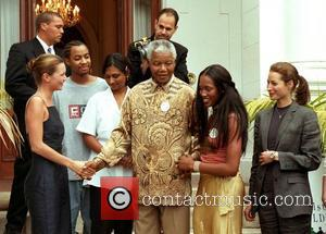 Nelson Mandela has died  Nelson Mandela with Kate Moss and Naomi Campbell at his home Cape Town, South Africa...