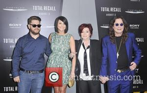 Jack Osbourne, Lisa Stelly, Sharon Osbourne, Ozzy Osbourne and Grauman's Chinese Theatre