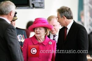 Prime Minister Tony Blair and Baroness Margaret Thatcher