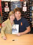 John Barrowman and his sister Carole Barrowman sign copies of their new book 'Anything Goes' at Borders Bookstore