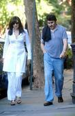 Alfred Molina and Friend Go For A Stroll