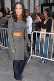 Alicia Keys arriving at ABC Studios to perform...