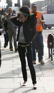 Amy Winehouse runs errands in Camden Town London,...