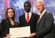 Angelina Jolie and President Bill Clinton