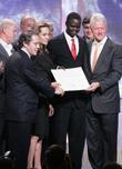 Angelina Jolie and Bill Clinton