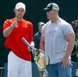 Andy Roddick and WWF Wrestler John Cena 2007...