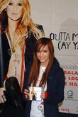 Ashlee Simpson signs copies of her new single...