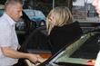Barbra Streisand arrives at Paris Moskau Restraurant Berlin,...
