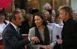 Matt Lauer, Ann Curry and Barry Manilow