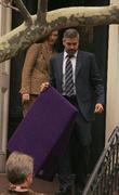 Tilda Swinton and George Clooney