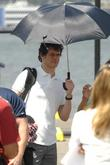 Tom Everett Scott on the set for the...