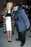 Sarah Michelle Gellar and Radioman outside Ed Sullivan...