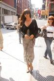 Actress Monica Bellucci out and about in SoHo...
