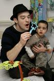 Charlie Cox, The Star Of Movie Stardust and Visits The Children's Ward At St. Mary's Hospital With An Ambassador Of The Starlight Children's Foundation