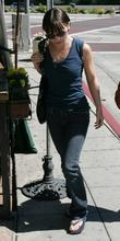 Christina Ricci, who is staring in the upcoming 'Speed Racer' out and about