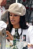 Claudia Jordan from the TV game show 'Deal or No Deal' at the Ivy restaurant