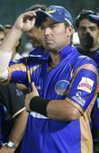 Shane Warne captain of Rajasthan Royals during the match aganist Hyderabad Deccan Chargers at the IPL T20 match at Sawai Mansingh stadium